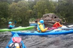04-Paddling-Past-Wreck-on-Loch-Ness